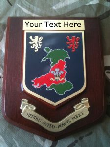 Heddly Dyfed Powys Welsh Police Force Personalised Wall Plaque